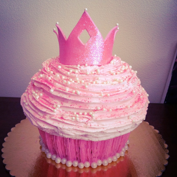 Princess smash cake by TiffyCakes. Even the crown and glitter are edible!