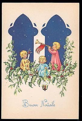 Pmce Cartolina Buon Natale Fg N Serie 783/5 - Bimbi Bimbo Bimba Agrifoglio