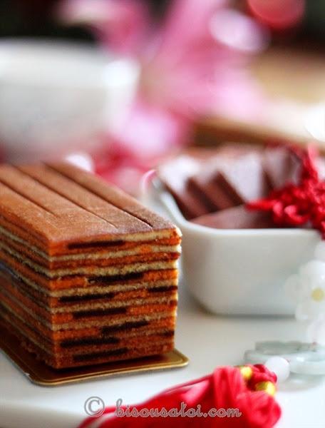 Orange Hawflakes Layered Cake