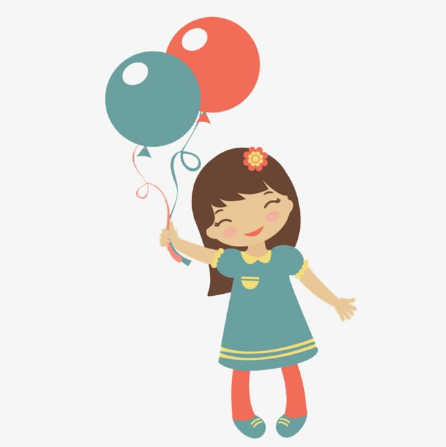 A Little Girl With A Balloon Balloon Clipart Balloon In Hand