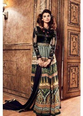 couleur multi couleur crepe Anarkali costume, - 122,00 €, #Robepakistanaise #Robesindiennes #Tenuebollywood #Shopkund