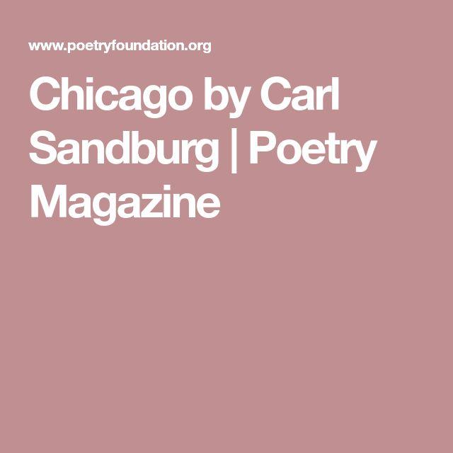 Chicago by Carl Sandburg | Poetry Magazine