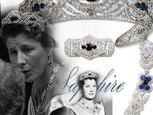 qualità incredibile comprare on line boutique outlet Sapphire Diamond Parure Tiara Necklace Brooch Bracelet ...