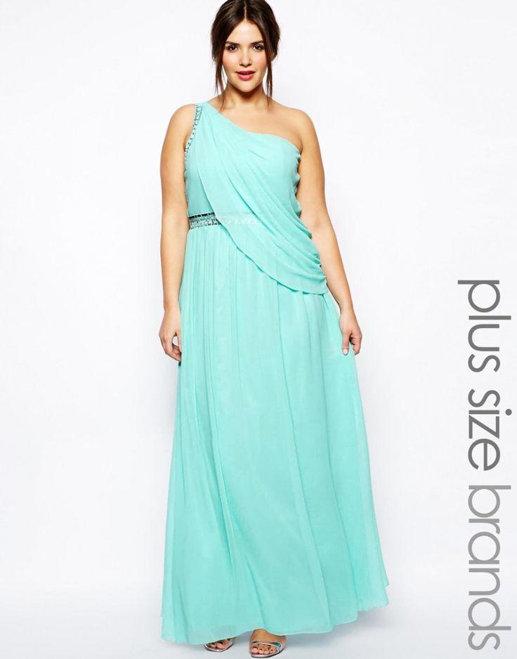 robe longue cocktail turquoise grande taille effet drape vestale sur http://larobelongue.fr/robe-longue-cocktail/