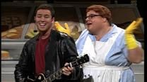 Lunch Lady Land - Adam Sandler and his backup dancers, Chris Farley (& others)