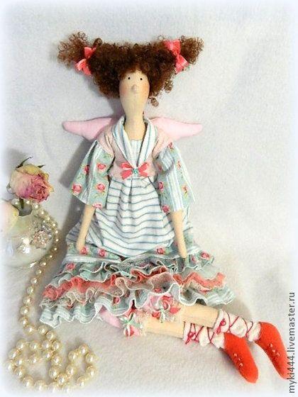 Куклы Тильды ручной работы. Ярмарка Мастеров - ручная работа Весенний ангел Илона в стиле Тильда. Handmade.