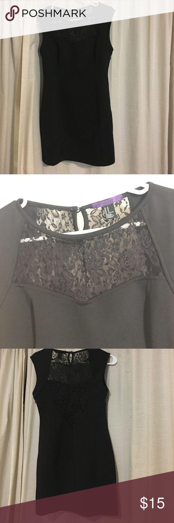 Black dress Black body con dress- doesn't fit super tight Forever 21 Dresses
