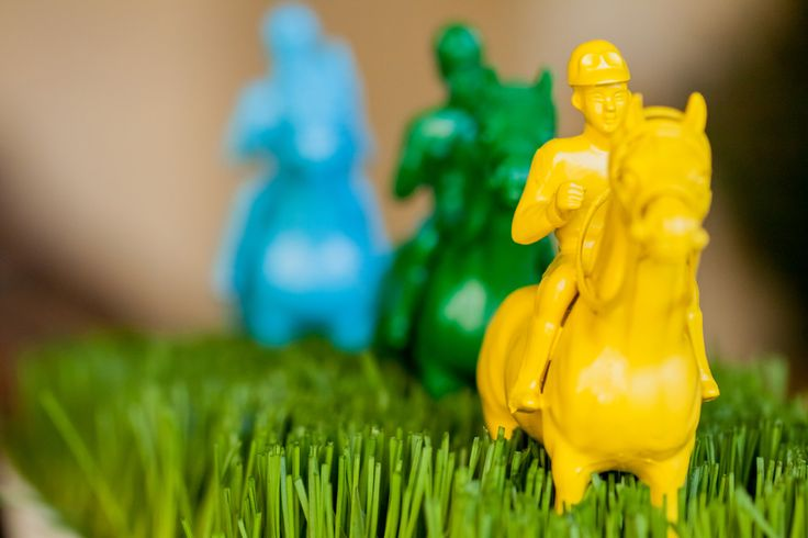 spray painted toy horses for derby party #whhostess
