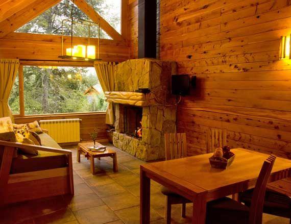 Comedor & Living con hogar a leña Terra
