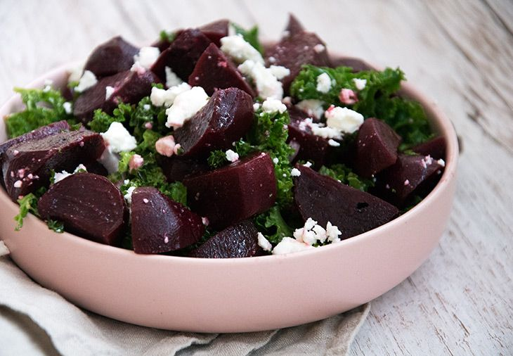 Rødbede og feta salat