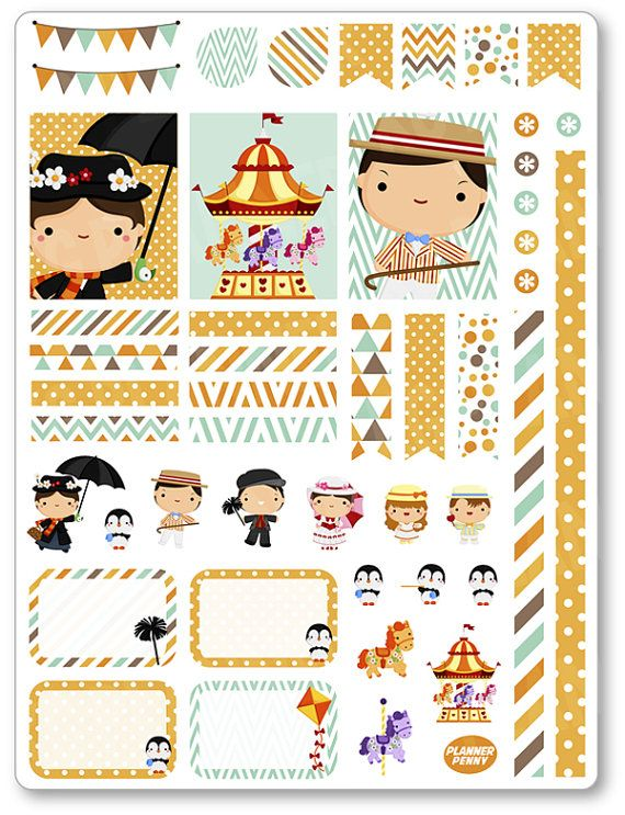 Nanny Decorating Kit / Weekly Spread Planner Stickers for Erin Condren Planner…