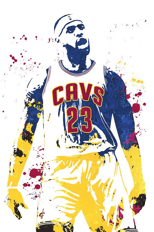 LeBron James King James Cleveland Cavaliers by GoFigureArtStudio
