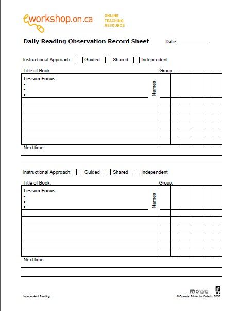 48 best Assessment Reading images on Pinterest Atelier - workshop evaluation forms sample