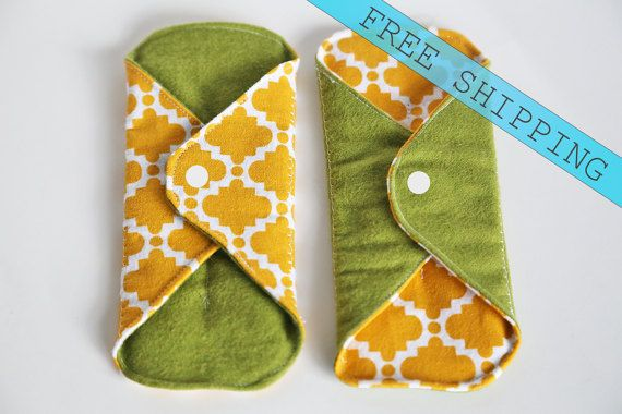 Set of 2 8 Panty Liner Flannel Cloth Pads Mama Pad No