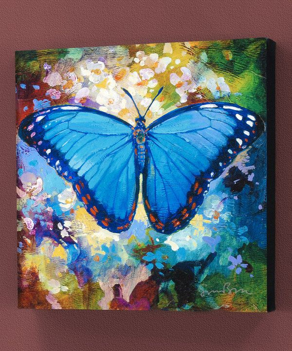 Take A Look At This Blue Erfly Gallery Wred Canvas On Zulily Today Painting Ideas In 2018 Pinterest Art And