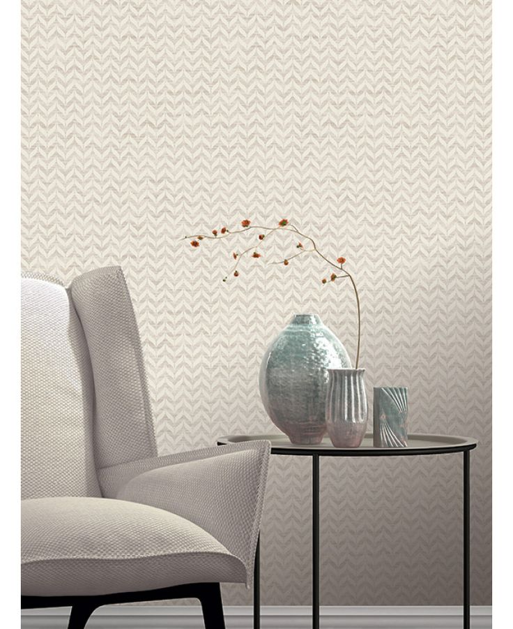 This Incanto Leaf Geometric Wallpaper in neutral tones features a geometric leaf pattern with contrasting textured finishes and glitter highlights. Free UK delivery available