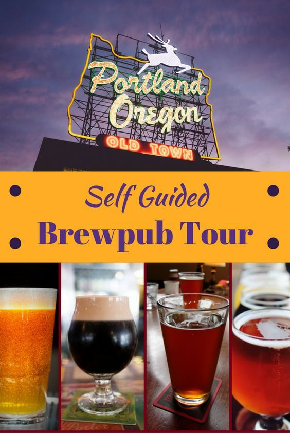"""Portland Oregon, aka """"Brewtopia"""" is overflowing with breweries so it makes a perfect place for a tour of Portland Brewpubs. The great thing about this self guided tour is that it is all on the funky old town and is completely walkable. Click through for all the details and a handy map.  via @livedreamdiscov"""
