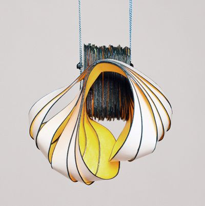 Incredible paper pendant by Lydia Hirte.