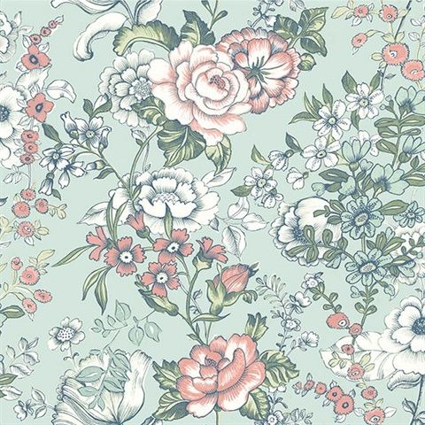 Ainsley Aqua Boho Floral
