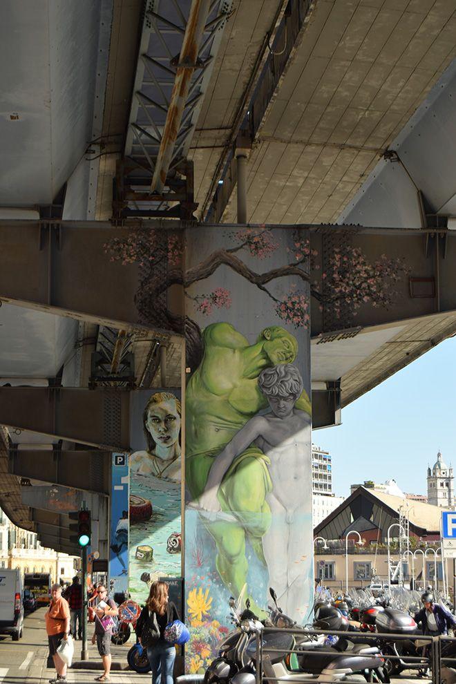WALK the LINE - Arte urbana sui piloni della Sopraelevata di Genova