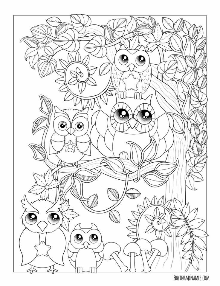 Owl Coloring Pages By Erna Piatek On Edwina Mcnamee Fall