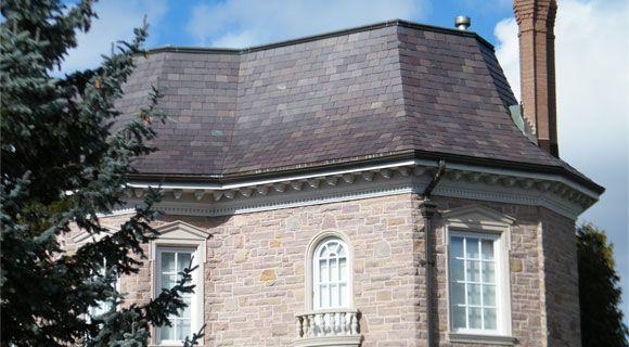 Vermont Semi-Weathering Purple slate roof