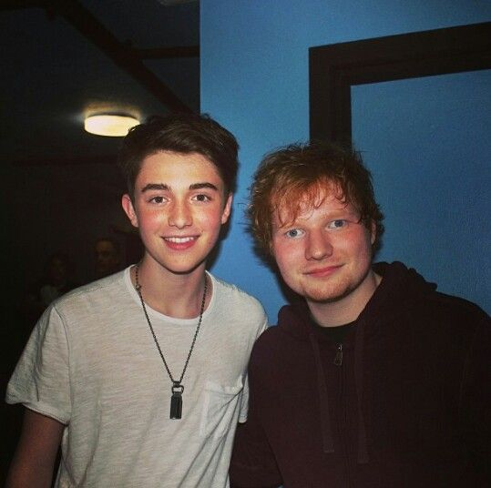 Ed and Greyson Chance a while ago Ed album is called X, as in Planet X Greyson has a new song which we are waiting for called Planet X **bands try to let us know #edsheeran #greysonchance