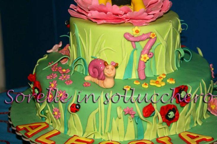 Maia the bee cake ,torta ape maia...particolari