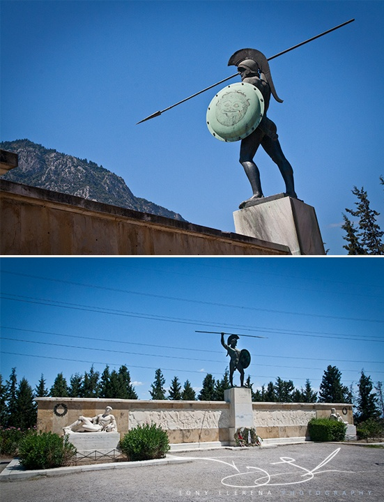 King Leonidas' memorial site at Thermopylae, Central Greece