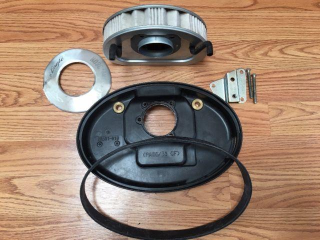 Harley Davidson Air Filter P/N:29461-99, Backing Plate, Hoses & Gasket OEM | eBay