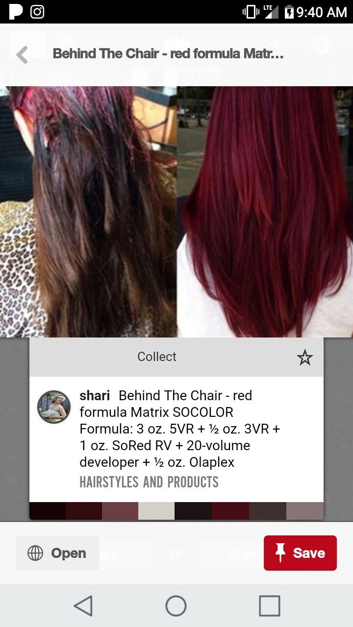 a5dc8a5442 Pin by Jennifer Wright Baker on hair in 2019 | Hair color formulas, Dyed  hair, Matrix hair color