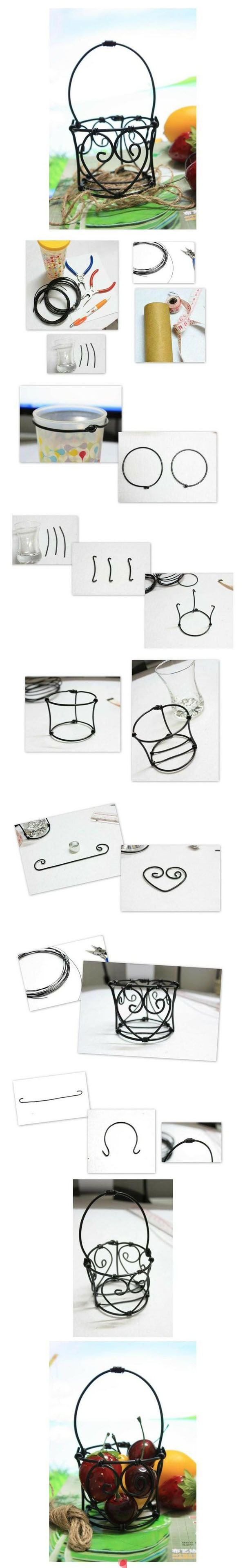 How to.. Make your own wire basket. Idea for making it in miniature. repiny.com