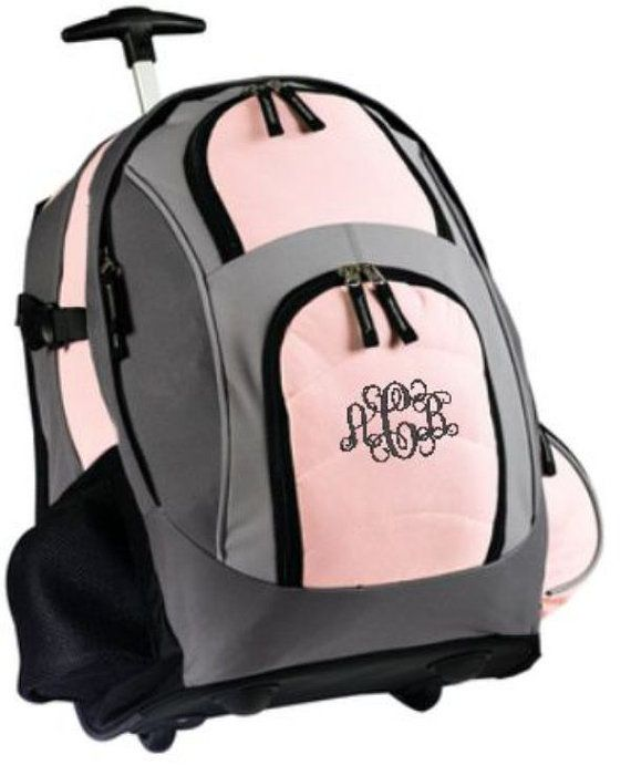 Monogram Backpack Rolling Backpack Backpack on by cre8ivgifts