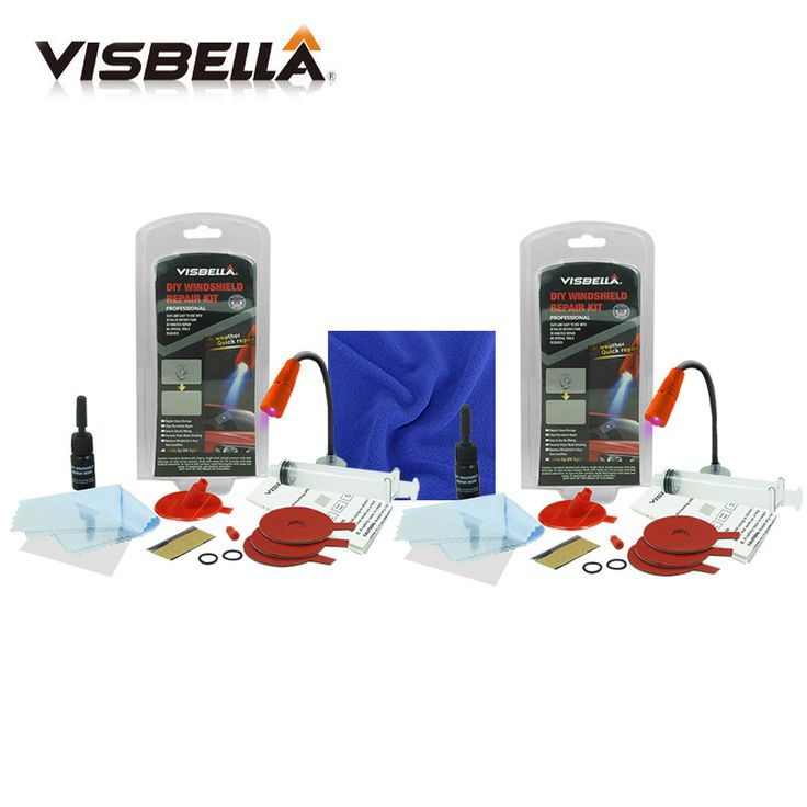 Visbella 2pcs Car window repair Windscreen Scratch Chip Crack Restore fix Auto Windshield Repair Kit Window Glass Polishing Kit. Click visit to buy
