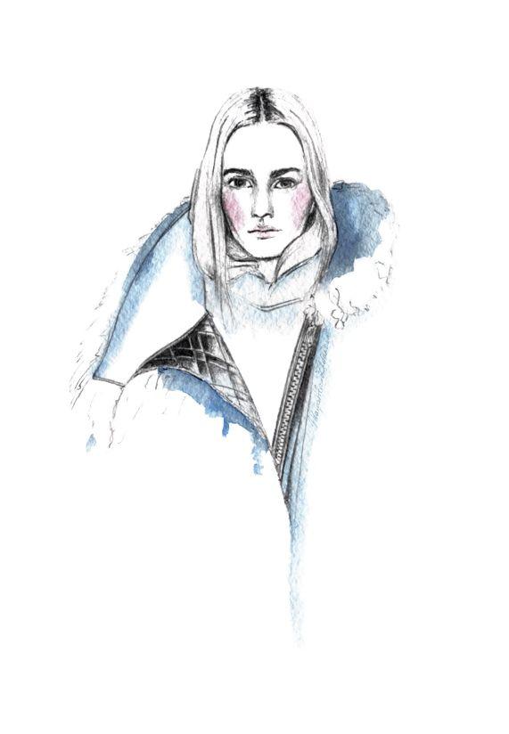 Sacai Fall 2014  fashion illustration