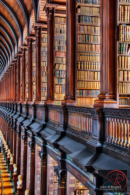 The Old Library at Trinity College, Dublin Ireland (the photographer mis-identified the location as Temple College).