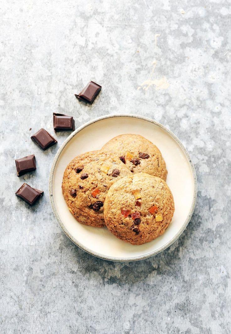 Cookies chocolat et fruits confits