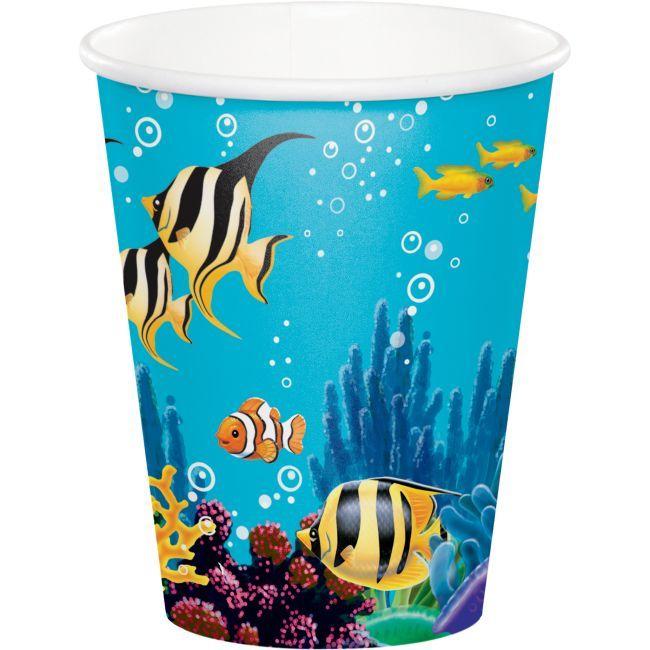 Ocean Party 9oz Hot Cold Cups Ocean Party Party Cups Ocean