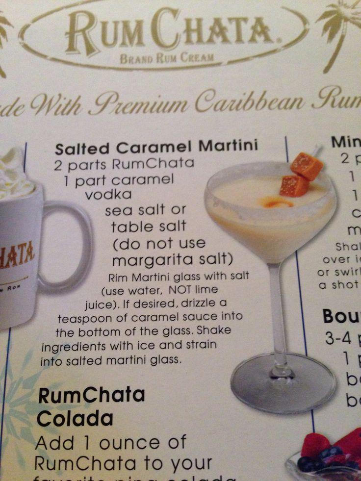 Rum Chata salted Carmel martini!