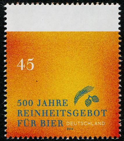 Germany, 2016. 500 Years of German Beer Purity Regulation