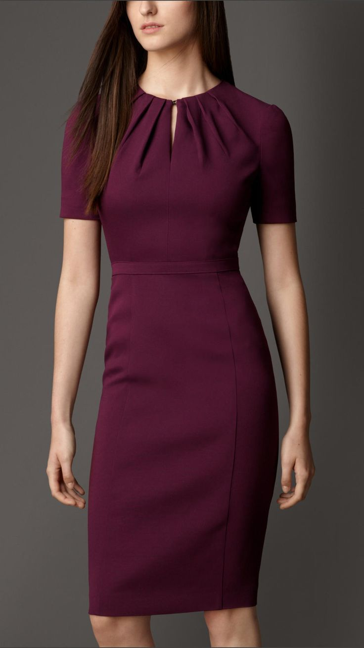 Pleat Neck Dress | Burberry