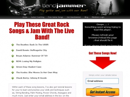 Play Guitar Songs & Jam With A Band: Bandjammer