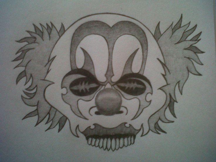 Scary Clown Tattoo Drawing Tattoobitecom
