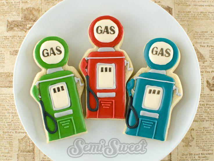 Vintage Gas Pump Cookies by Semi Sweet Designs