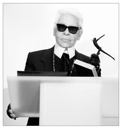 Karl Lagerfeld receives the NM Fashion Award, like Coco Chanel did 55 years ago. #OnlyatNM