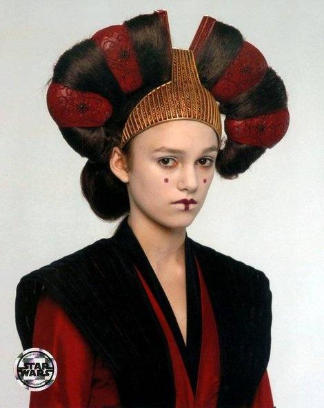"Keira Knightley in character as ""Sabé"", handmaiden to ..."