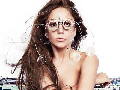 Following in Justin Timberlake's footsteps, Lady Gaga must love her optometrist too!