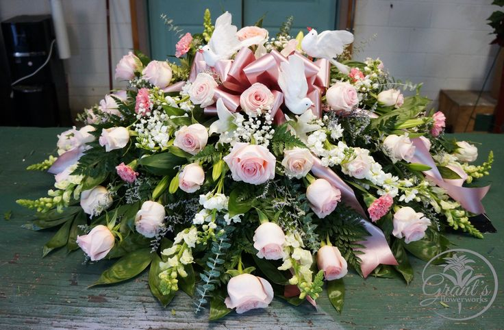 Casket Spray by Grant's Flowerworks Funeral arrangements