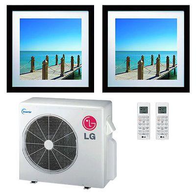 LG 21K BTU Dual Zone Art Cool Gallery Ductless Mini-Split Heat Pump 9K+12K