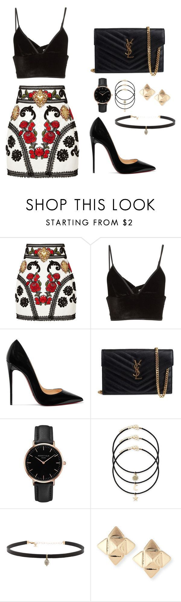 """Untitled #158"" by ipinkiee ❤ liked on Polyvore featuring Dolce&Gabbana, Alexander Wang, Christian Louboutin, Yves Saint Laurent, Topshop, Carbon & Hyde and Valentino"